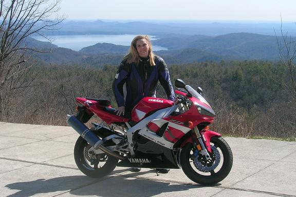 [Me and my R1 overlooking Lake Jocassee in north-western South Carolina.]