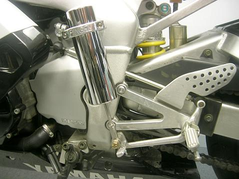 [The Pingel electric shifter installed on the R1.]