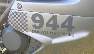 [Custom lettering showing that the ST2 is 944cc's of torquey engine.]