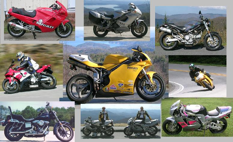 [A collage of our bikes and us.]