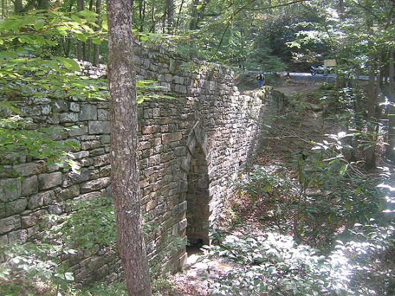 [A picture of Poinsett bridge with Vicki at the top and my Ducati ST2 on the road above the bridge.]