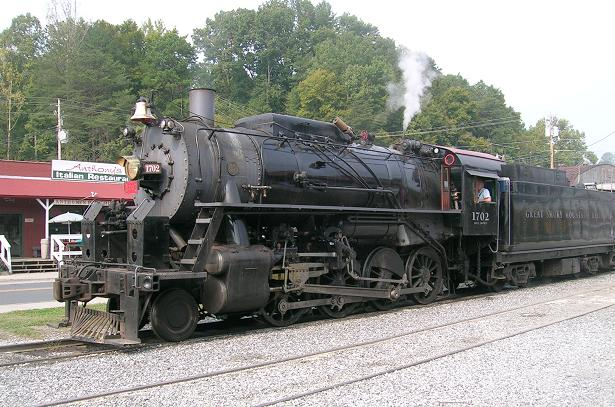 [The steam locomotive that would take us to Bryson City, NC.]
